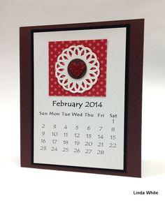 Handmade calendar pages