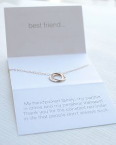 Best Friend Necklace for the bestie in your life. Available in silver, gold and rose gold. By Olive Yew. #bestfriendnecklace