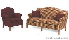 Country check sofa by New Hope Classics perfect for every country home! Americana Living Rooms, Primitive Living Room, Primitive Furniture, Country Furniture, Country Primitive, Country Decor, Country Sofas, Prim Decor, Primitive Decor