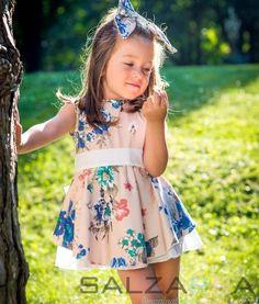 "#salzarra #girl #set #fashion #kids Dress with panties ""ELI'S SPRING GARDEN"""