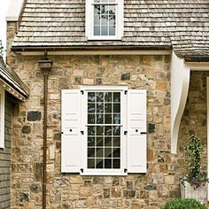 1000 images about gutters on pinterest copper gutters for Cottage style exterior shutters