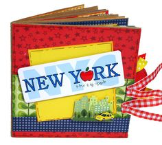 New York City Scrapbook Paper Bag Album...cute idea for summer travels. Take it with you and paste as you go.