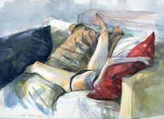 Storie, disegni e appunti del disegnatore Gipi: Meri dorme Luglio