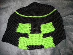 Creeper hat for the minecraft fan Creepers, Minecraft, Beanie, Knitting, Hats, Projects, Nuthatches, Log Projects, Blue Prints