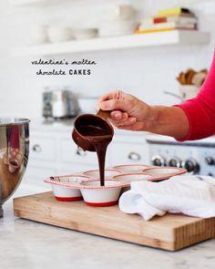 Valentine's Molten Chocolate Cakes