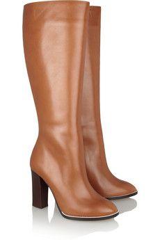 Chloéleather knee boots