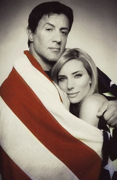 Sylvester Stallone and his wife, Jennifer Flavin Sylvester Stallone Wife, Bullet To The Head, Jennifer Flavin, Stallone Rocky, Silvester Stallone, She Is Gorgeous, Beautiful, Oldschool, Rocky Balboa