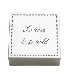 We love this as a wedding shower gift idea or as a gift for your bridesmaids! Fill it with little essentials for the big day and then after the wedding use it to keep special mementos from the wedding! Reed & Barton - Lyndon Square Box Personalize