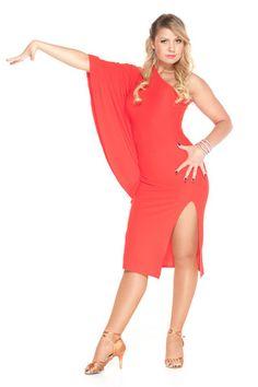 """Fabulous in Red"" Latin Dance Dress"