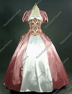 Victorian Royal Princess Corset Bustle Ball Gown Reenactment Clothing Theatre Quality