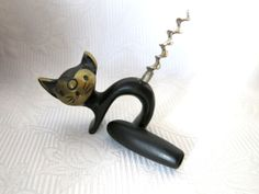 Walter Bosse Katze Korkenzieher Bronze von ZeitepochenShop auf Etsy, €79.00