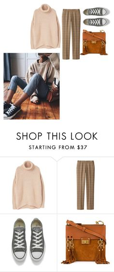 """""""💙💜"""" by joe-khulan on Polyvore featuring MANGO, Uniqlo, Converse and Chloé"""