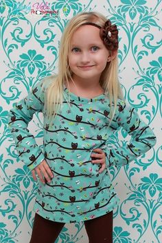 Tessa's Girls Boutique Knit Tee and Dress PDF Pattern
