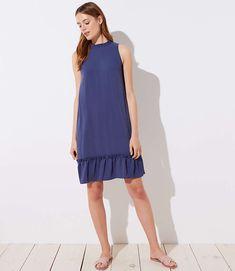 e4fe13f85e5c LOFT Ruffle Flounce Halter Dress