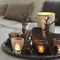 Antlers and candlelight