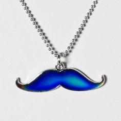 Mood Mustache Necklace | Claire's