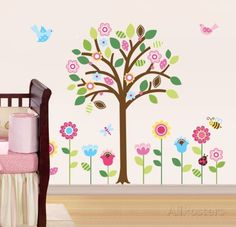 Pretty Pastel Garden Wall Decal at AllPosters.com