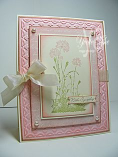 Serene Silhouettes Sympathy - Stampin' Up! Serene Silhouettes, Card Making Designs, Pink Cards, Pretty Cards, Sympathy Cards, Paper Cards, Flower Cards, Creative Cards, Greeting Cards Handmade