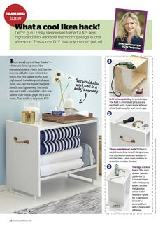 Rast nightstand hack -- drawer pulls as feet