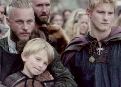 Vikings (series 2013 - ) Starring: Travis Fimmel as Ragnar Lothbrok, (and his first son with Aslaug) Cormac Melia as Ubbe, (and his son with Lagertha) Alexander Ludwig as Bjorn Lothbrok.
