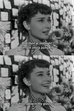 Audrey Hepburn in 'Roman Holiday' Audrey Hepburn Outfit, Audrey Hepburn Movies, Audrey Hepburn Quotes, Sabrina Audrey Hepburn, Audrey Hepburn Roman Holiday, Old Movie Quotes, Film Quotes, Retro Quotes, Funny Quotes