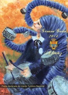 El cartel 'Murmullo de tambores', imagen de la Semana Santa Alcañiz 2013  #sienteTeruel #redoblaAlcañiz