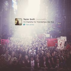Awww, Thank you, From all us fellow swifties; #FOREVERSWIFTIE <3