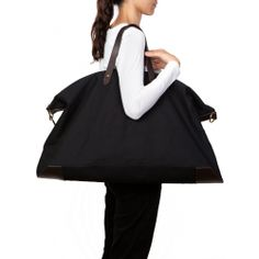 Cuyana Canvas and Leather Weekender Bag Black