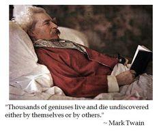 Mark Twain on Genius