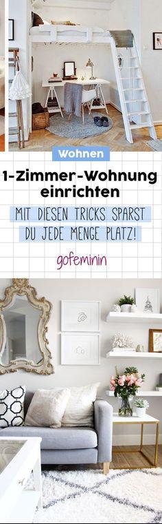 Einzimmerwohnung einrichten: Die besten Tipps & Tricks für kleine Wohnung - Ideen für 1-Zimmer Apartment