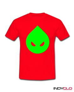 Evil Ed - Neon Green on Red T-Shirt - £17.99 - Only from Indyglo Clubwear.