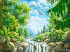 Landscape with small waterfall - WP by rosinka on DeviantArt Waterfall Drawing, Small Waterfall, Anastasia Book, Wonderful Picture, Drawing Tools, Creative Art, Worlds Largest, Digital Art, Fire