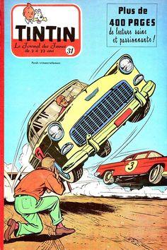 Tin Tin Cartoon, Cartoon Rat, Vintage Comics, Vintage Posters, Album Journal, Les Fables, Traditional Ink, Ligne Claire, 1955 Chevrolet