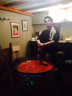 Harry cooking the amazing Paella