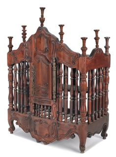 Carved walnut panetiere (for storing bread), French, early 19th c. Pook & Pook.