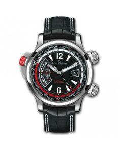 Jaeger-LeCoultre Master Compressor Extreme W-Alarm Aston Martin Titanium & Steel Watch Sport Watches, Cool Watches, Watches For Men, Wrist Watches, Luxury Watches, Rolex Watches, Jaeger Lecoultre Watches, Watch Master, Audemars Piguet Watches