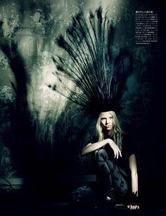 Sasha Luss, Ola Rudnicka & Maja Salamon for Vogue Japan March 2014 by Paolo Roversi