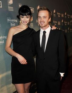 Krysten Ritter and Aaron Paul, from Breaking Bad.