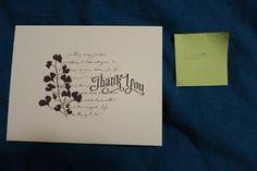 Thank You Card - Wedding