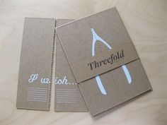 Threefold Collective Wishbone Cards | Paper Crave. Love it!
