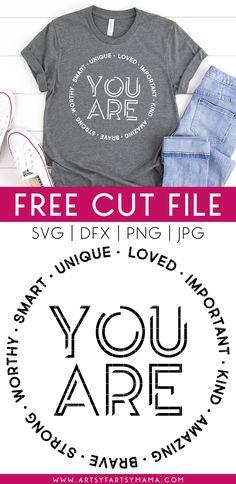 Free T Shirt Design, Cute Shirt Designs, Cricut Craft Room, Cricut Vinyl, Cricut Tutorials, Cricut Ideas, Vinyl Shirts, Silhouette Cameo Projects, Cricut Creations