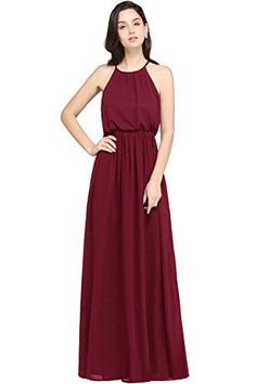 online shopping for Babyonlinedress Halter Casual Maxi Dress Women's Chiffon Formal Evening Dress from top store. See new offer for Babyonlinedress Halter Casual Maxi Dress Women's Chiffon Formal Evening Dress Evening Dresses For Weddings, Chiffon Evening Dresses, Long Evening Gowns, Halter Maxi Dresses, Formal Dresses For Women, Formal Evening Dresses, Casual Dresses, Cheap Homecoming Dresses, Bridesmaid Dresses Online