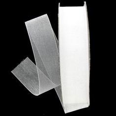 """White 7/8"""" Organza Ribbon"""