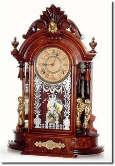 "Antique Wm L Gilbert ""Occidental"" Model Clock- Antique Wm L Gilbert ""Occidental"" Model Clock Antique Wm L Gilbert ""Occidental"" Model Clock - Large Vintage Wall Clocks, Large Clock, Antique Watches, Vintage Watches, Male Models Tattoo, Clock Antique, Classic Clocks, Wall Clock Online, Clock Decor"