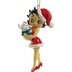 """Westland Giftware Betty Boop Ornament  3.75"""" Betty and Pudgy."""