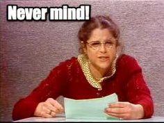 Wonderful Gilda Radner, as Emily Litella (sp) ~ Saturday Night Live in the Gilda Radner, Comedy, I Remember When, Vintage Tv, Saturday Night Live, Old Tv, Classic Tv, The Good Old Days, Humor
