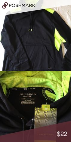 Men's Tek Gear Dry Tek pullover NWT. Black with neon green. (Was going to give as gift, so blacked the price out on tag. ) Jackets & Coats Lightweight & Shirt Jackets