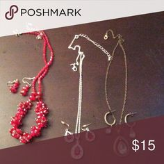 Necklace and earring set bundle 3 sets of necklace and pierced earrings Avon Jewelry Necklaces