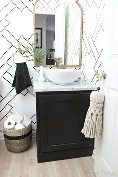 If you have a small bathroom in your home, don't be confuse to change to make it look larger. Not only small bathroom, but also the largest bathrooms have their problems and design flaws. Bathroom Inspiration, Home Decor Inspiration, Decor Ideas, Diy Home Decor, Room Decor, Cute Dorm Rooms, Bathroom Styling, Home Decor Accessories, Decoration