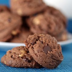 Chocolate Peanut Butter Cup Cookies.  This is one of our all time favorite cookies.  Love peanut butter and chocolate?  You must make these!  By @Christi Spadoni Spadoni   Love From The Oven